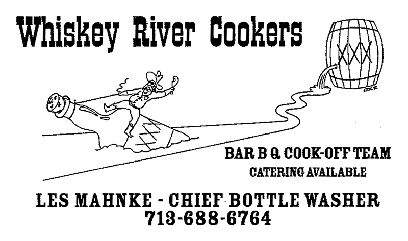 Whiskey River Cookers Les Mahnke